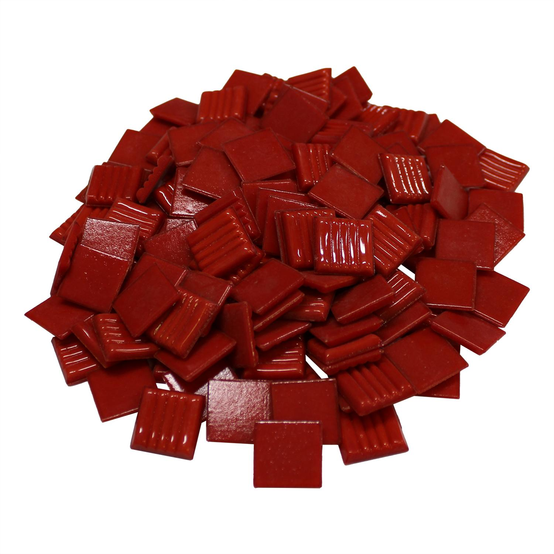 3/4 Tomato Venetian Glass Tile - 1 Lb