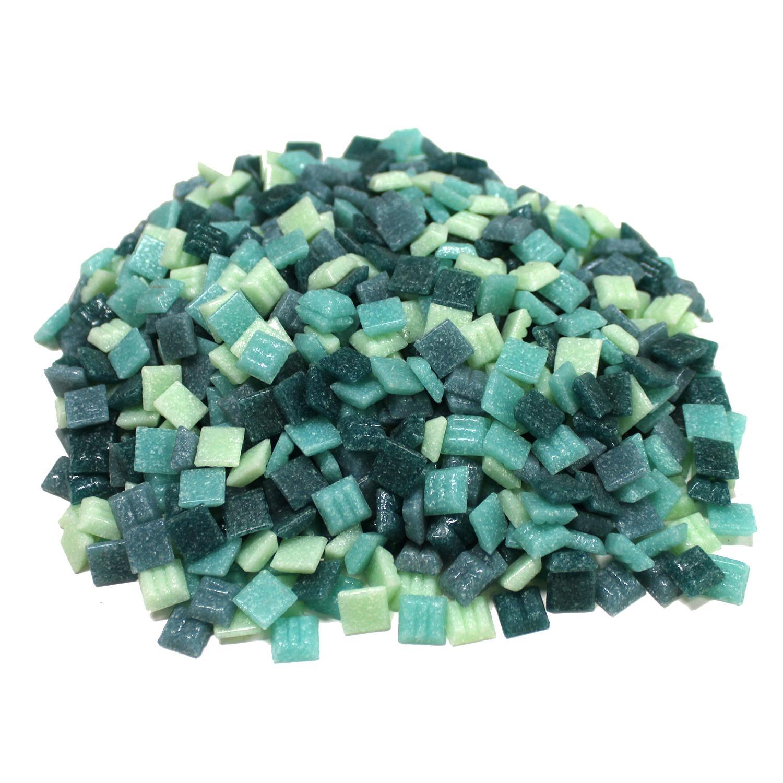3/8 Nautical Venetian Glass Tile Mix - 1 Lb