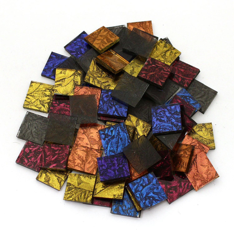 3/4 Van Gogh Sparkle Glass Chips Mix - 75 Pieces