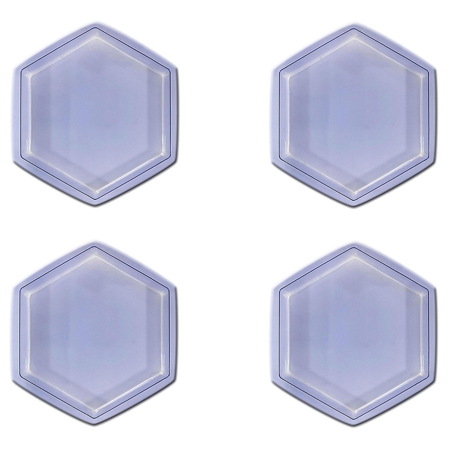 8 Clear Hexagon Stepping Stone Mold - 4 Pack