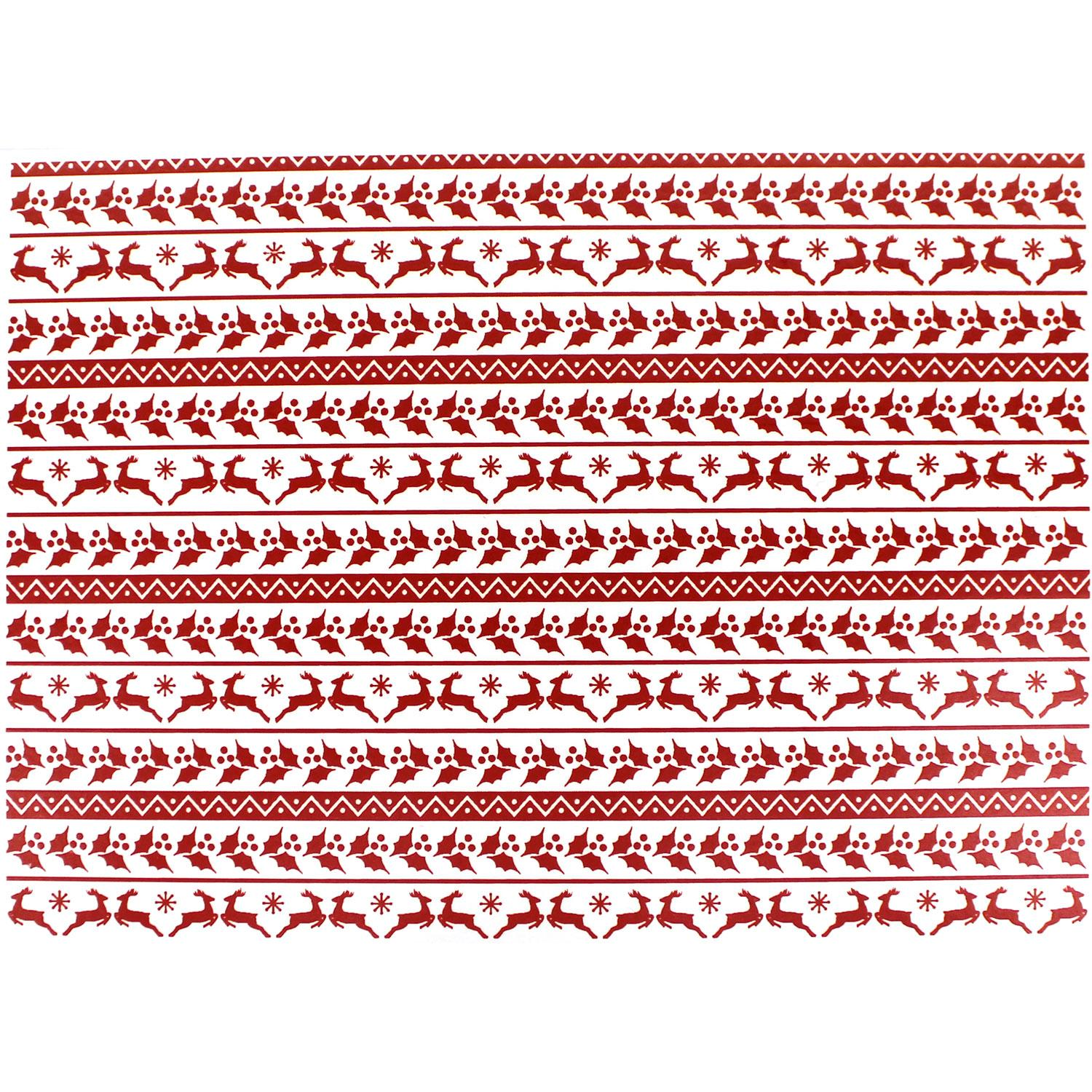Holiday Ugly Sweater Border Red Enamel Decals