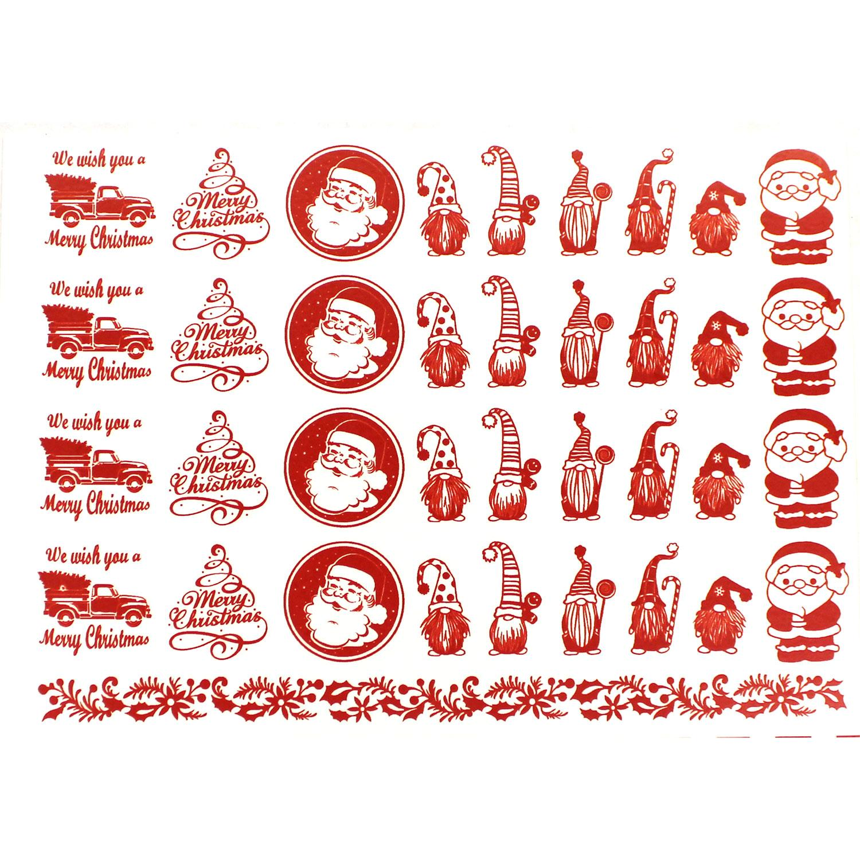 Holiday Sampler Pack Red Enamel Decals
