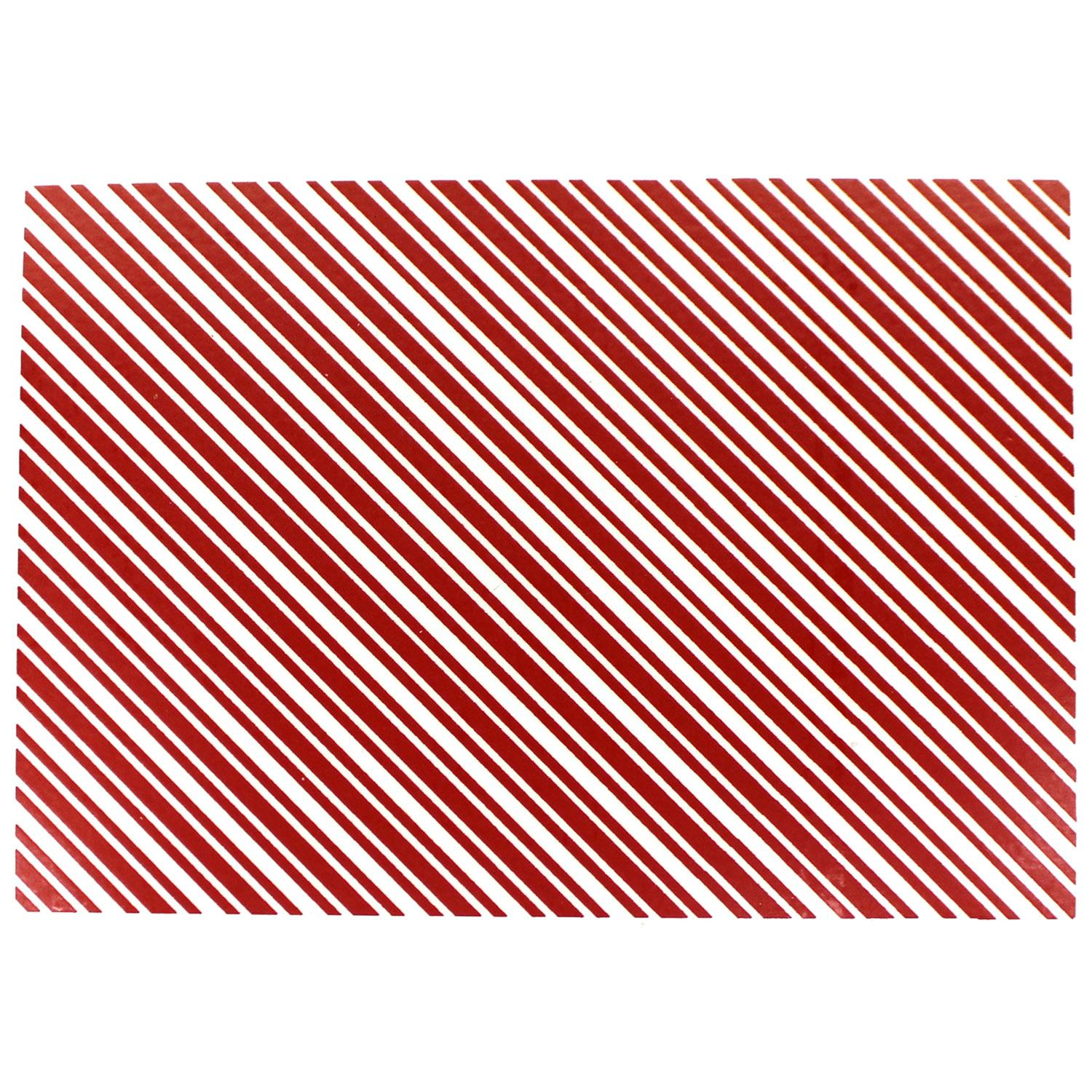Red Candy Stripe Enamel Decal