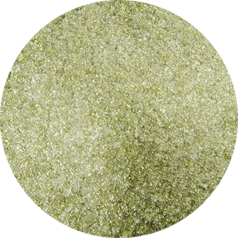5 Oz Lily Pad Green Transparent Fine Frit - 90 COE