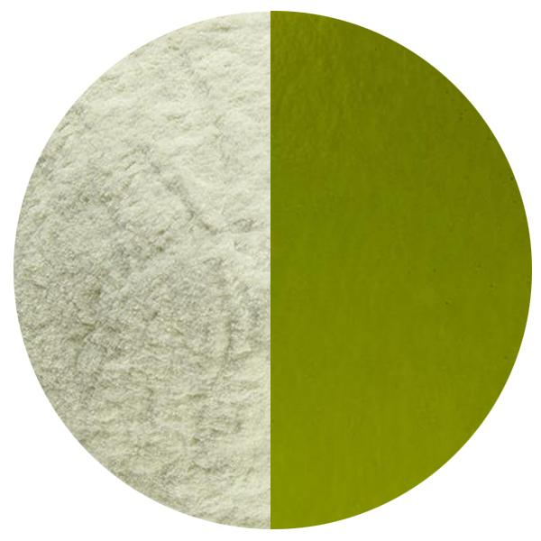 5 Oz Lily Pad Green Transparent Powder Frit - 90 COE