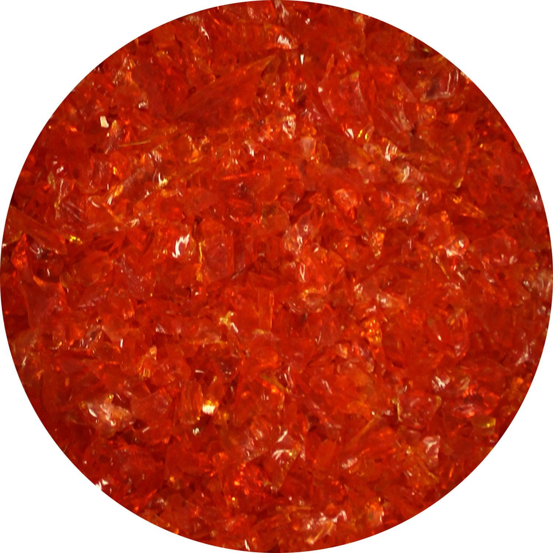 8.5 Oz Rust Transparent Medium Frit - 96 COE