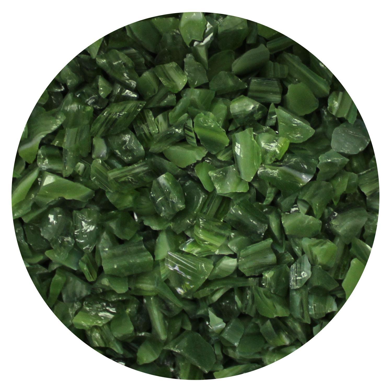 8.5 Oz Forest Green Opal Coarse Frit - 96 COE