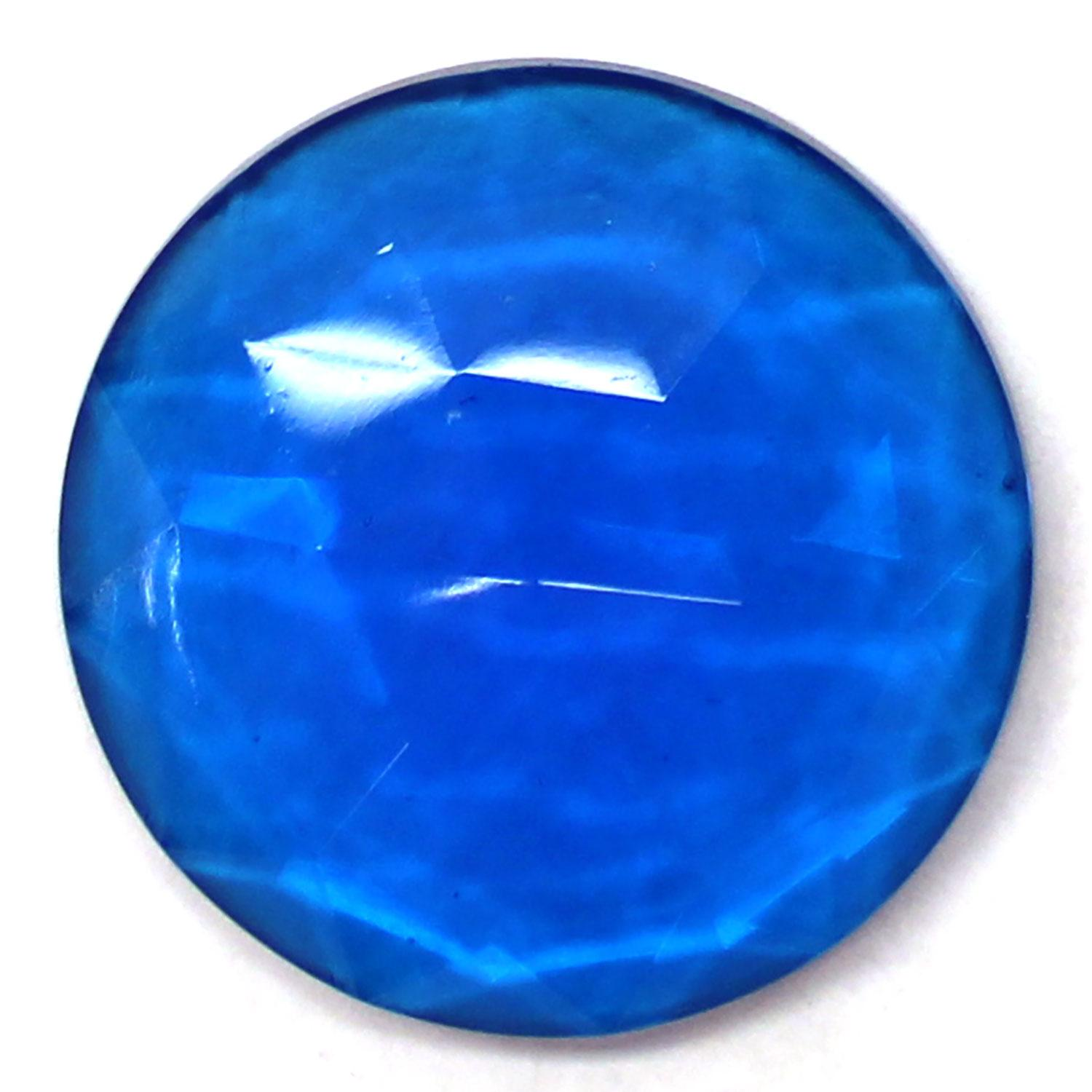 Turquoise Round 25mm Faceted Jewel
