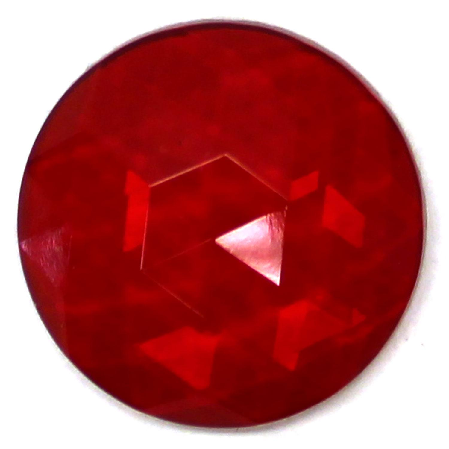 Red Round 20mm Faceted Jewel