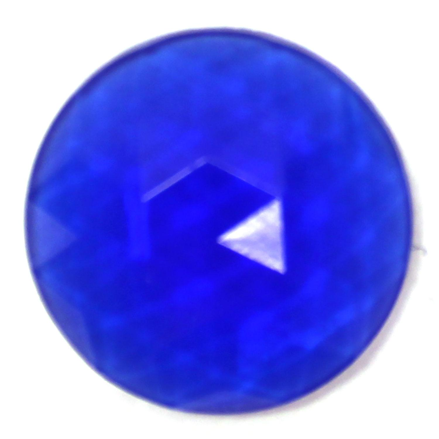 Blue Round 20mm Faceted Jewel