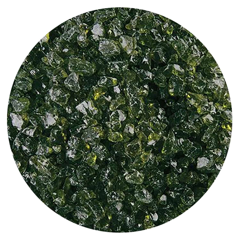 5 Oz Lily Pad Green Transparent Coarse Frit - 90 COE