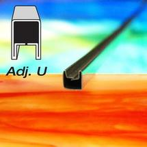 1/4 Adjustable U Zinc Came - Strip