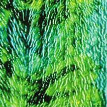 Uroboros Emerald, Chartreuse Green Herringbone Ripple