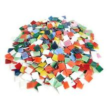Opalescent Stained Glass Chip Assortment - 4 lb Bulk