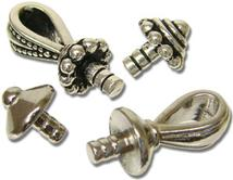 Silver Plated Bail And Base Assortment - 16 Pieces