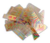 1/4 Lb Dichromagic Tie Dye Pattern Scrap On Clear - 90 Coe