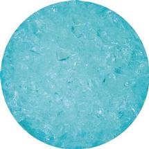 8.5 oz Aqua Blue Iridized Transparent Coarse Frit- 96 COE