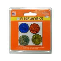 Fuseworks Dichroic Textures Pre-Cut Circles - 90 COE