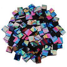1/2 Lb Black Pattern Rainbow Dichroic Chips - 90 COE