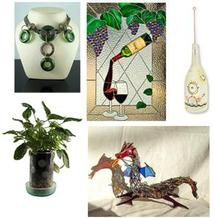 Free Recycled Bottle Art Ideas Inspiration Sheet