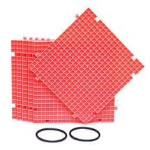Pink Waffle Grid Surface - 6 Pack