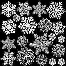 White Ornate Snowflake Enamel Decals
