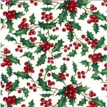 Holly Berry Color Enamel Decals