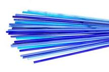 Blue Me Away Effetre Rod Assortment - 104 COE