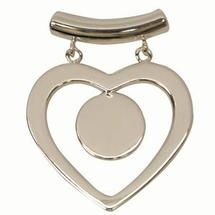 Silver Plated Tube Top Hinged Heart Pendant