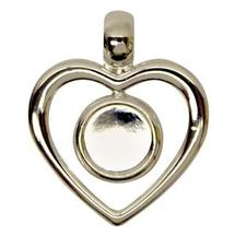Silver Plated Heart Pendant