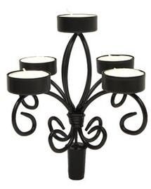 Wrought Iron Wine Bottle Candelabra
