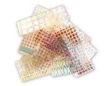 1/2 lb Dichro Magic Chamber Pattern Dichroic Scrap on Thin Clear - 90 COE