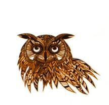 Owl Gold & Black Decal