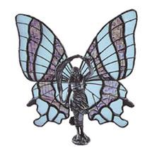 Butterfly Lady with Scarf Metal Figurine
