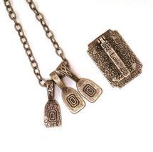 Antique Silver Love Jewelry Hanger Set