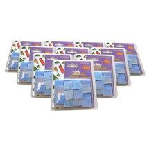 Blue Iridized Stained Glass Chips - 480 Pieces