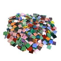 3/4 Iridized Stained Glass Chip Assortment - 480 Pieces