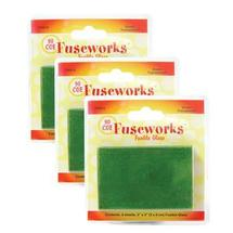 Fuseworks Green Transparent Glass - 12 Pack