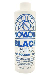 Novacan Black Patina For Lead And Solder - 8 Oz