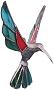 Upswept Hummingbird Metal Figurines