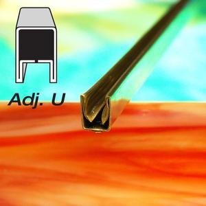 3/8 Adjustable U Brass Came - Strip