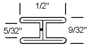 1/2 Flat H Zinc Came - Strip