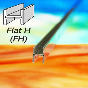 3/8 Flat H Zinc Came - Strip