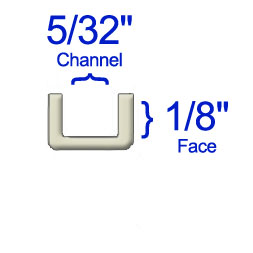 1/8 Flat U Zinc Came - 20 Lbs. Box