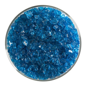 1 lb Turquoise Blue Transparent Coarse Frit - 90 COE