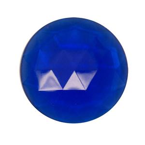 Round Blue 25mm Faceted Jewel