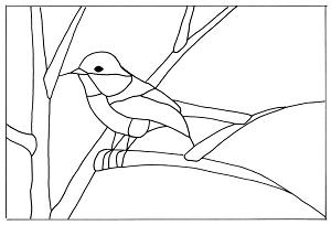 Free Black Capped Chickadee Pattern