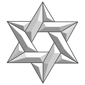 Star of David Bevel Cluster