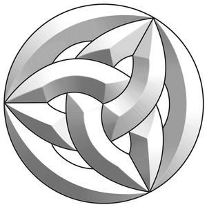 Celtic Circle Bevel Cluster