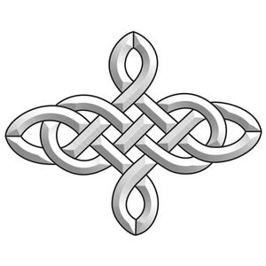 4 Point Celtic Knot Bevel Cluster